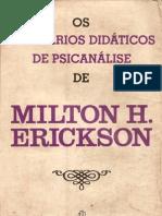 Os Seminarios Didaticos de Psicanalise de Milton H Erickson