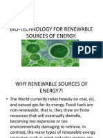 Bio-technology for Renewable Sources of Energy