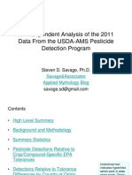 An Independent Analysis of the 2011 USDA Pesticide Residue Data