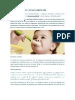 Lactancia artificial y leche maternizada