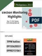 Election Monitoring Highlights