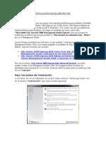 INSTALACIÒN DE SQL SERVER 2008