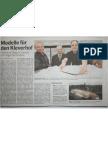 """090402_Kölnische Rundschau """"Modelle für den Kleverhof"""""""