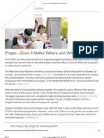 Prayer—Does It Matter Where and When?
