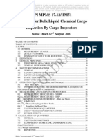 API Procedure for Inspection of Chemical Cargo by Inspectors
