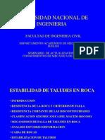 Estabilidad de Taludes en Roca