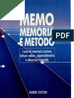 Memo, Memoria e Metodo - 1 - Memorizzazione
