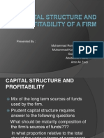.capital structure and profitability of a firm