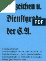 Abzeichen Und Dienstgrade Der SA