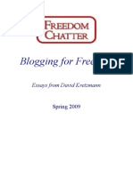Freedom Chatter Blog - Spring 2009