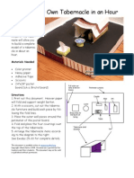 Sunday School Lesson Activity 219 Moses Builds a Tablernacle in the Wilderness - Printable 3D Model Kit