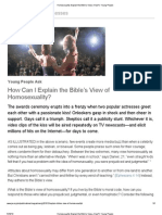 Homosexuality_ Explain the Bible's View—How? Young People TOO