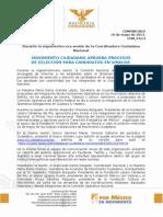 MOVIMIENTO CIUDADANO APRUEBA PROCESOS  DE SELECCIÓN PARA CANDIDATOS EN SINALOA