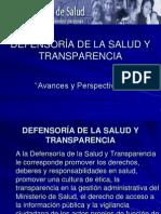 Defensoría de la Salud y Transparencia, avances y perspectivas