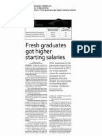 fresh graduates got higher starting salaries
