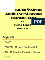 Lecture 1 - Information Systems Auditing Overview and Methodologies