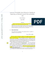 David Wallace, Quantum Probability From Subjective Likelihood