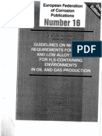EFC 16 (Guidelines on Materials Requirements for Carbon and Low Alloy Steels for H2S-Containing Environments in Oil and Gas Production).pdf