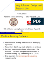 MLSS 2012 Lin Machine Learning Software