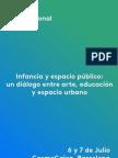 Jornada Internacional INFANCIA Y ESPACIO PÚBLICO   Arte, educación y espacio urbano