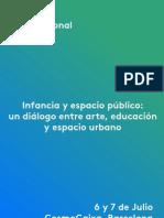 Jornada Internacional INFANCIA Y ESPACIO PÚBLICO | Arte, educación y espacio urbano