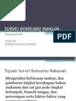 5 Survei Konsumsi Pangan