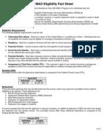SSI MAO EligibilityFactSheet09162011