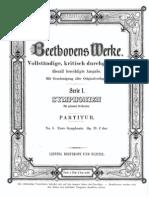Beethoven Symphony No. 1 Score