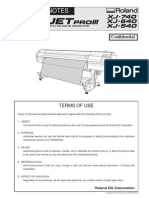Roland Printer Service Manual XJ-740