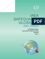 IAEA Safeguards Glossary