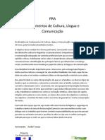 CLC7- Fundamentos de Cultura, Lingua e Comunicação