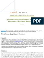 Software Product Development Talent Pool Assessment - Buenos Aires