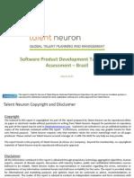 SPD Talent Pool Assessment Brazil Talent Neuron