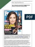 Angelina Jolie, Mastectomia y Corporaciones Geneticas