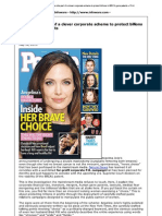 Angelina Jolie, Mastectomy and Genetic Corporations