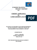 Credit Appraisal of Lord Krishna Bank