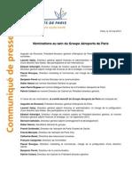Nominations Chez ADP