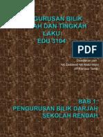 Bab 1 PENGURUSAN BILIK DARJAH