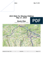 2013 Ride for Missing Children rout in Central New York - v8 0