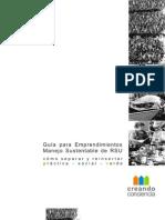 COOPERATIVA CREANDO Guia Para El Manejo Sustentable de Reciclado de RSU