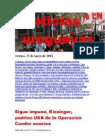 Noticias Uruguayas Viernes 17 de Mayo Del 2013