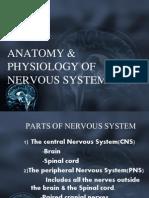 Anatomy &Physlgy f Nervous System