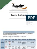 Cerinte de Sistem Audatex