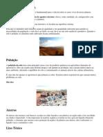 POLUIÇÃO DA SOLO E ÁGUA