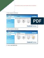 Procedimento de alteração para o formato do arquivo do scanner Brother através do ControlCenter