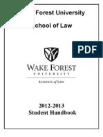 Wake Student Handbook 2012-13