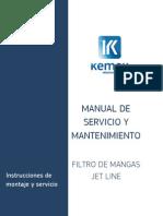 INS 12-3831-FJLV Instrucciones Montaje y Mantenimiento Filtro JETLINE