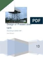 design of Pressed steel tank pdf