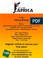 Let's Talk Africa 2013 Flyer