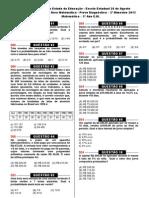 2ª prova diagnóstica (Mat. 3º ano EM) - 2013